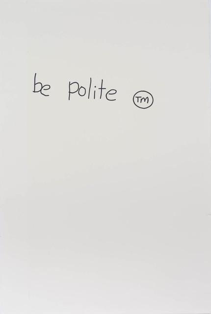 Gordon Bennett, 'Notes to Basquiat: Be Polite', 1998, Contemporary Art Gallery