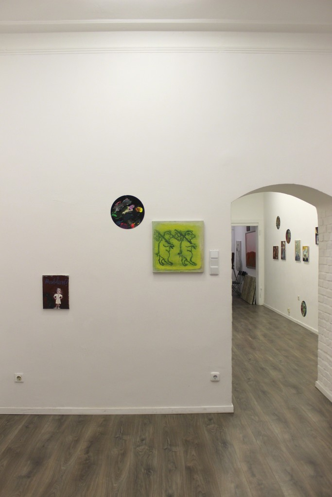 "Fragment of exhibition ""Hello, Friends"" by artist Elena Balsiukaitė-Brazdžiūnienė. Photography by Ignas Gleixner."