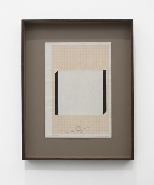 , 'Estudo para quadro em laminado plástico,' 1980, LURIXS: Arte Contemporânea