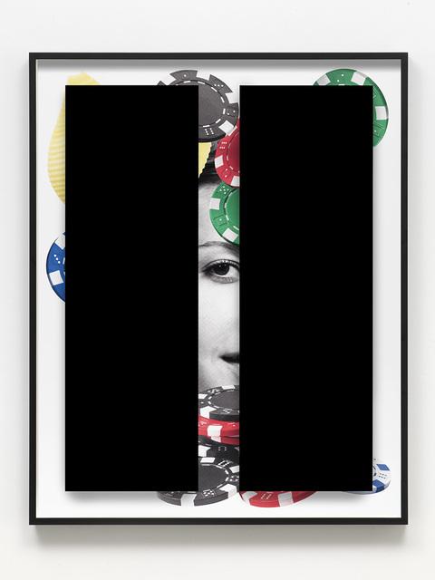 Kathryn Andrews, 'Black Bars: Déjeuner No. 28 (Girl with Poker Chips and Pasta)', 2018, David Kordansky Gallery