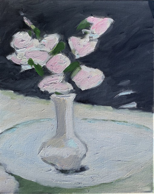 Maureen Chatfield, 'Black and White Floral  (Pink Roses)', 2019, J. Cacciola Gallery