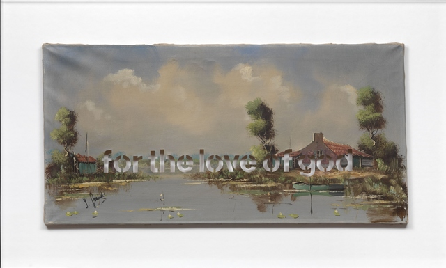 , 'Armchair Painting - Untitled (for the love of god),' 2010, Federico Luger (FL GALLERY)