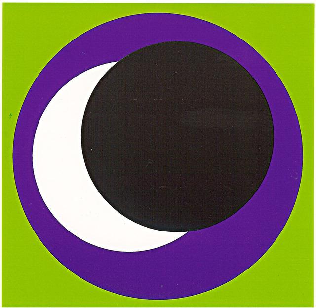 , 'cercles vert/noir,' 1969-1970, Galerie Denise René