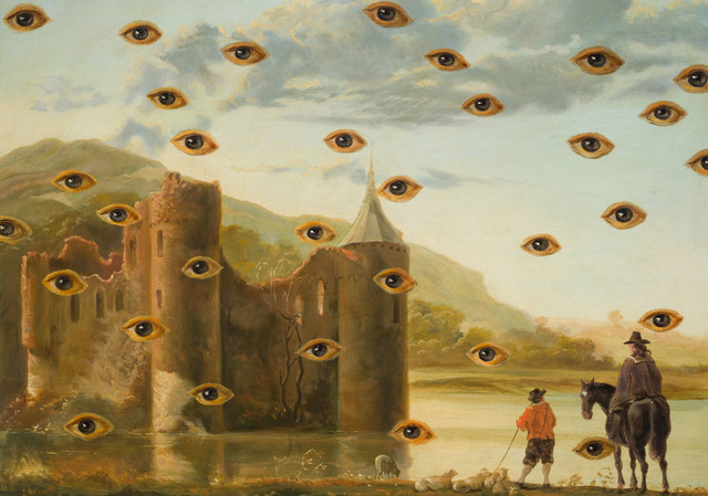 Laurent Grasso, 'Studies into the past', Painting, Oil on canvas, framed in oak wood, Olivier Malingue