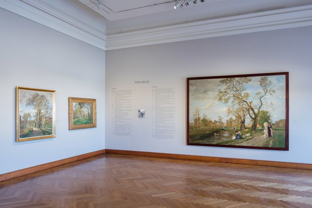 Exhibition view Tina Blau, Photo: © Belvedere, Vienna