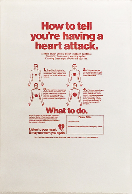 , 'How to Tell You´re Having a Heart Attack,' ca. 1984, Collectors Contemporary