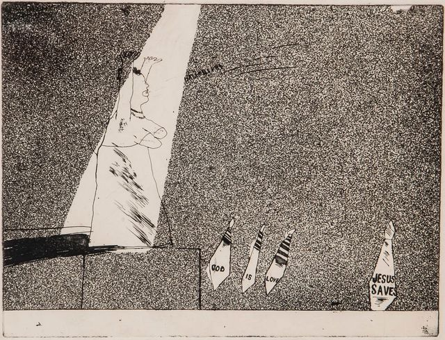 David Hockney, 'Jesus Saves', 1961-1963, Zuleika Gallery