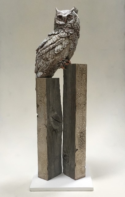 Christopher Reilly, 'Subarctic Great Horned Owl', Sculpture, Epoxy, Clay, Wood, and Mixed Media, Diehl Gallery
