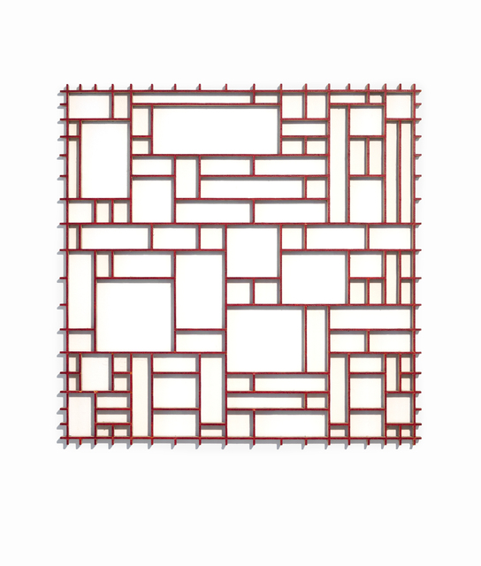 , 'Red Grid,' 2004, Simone DeSousa Gallery