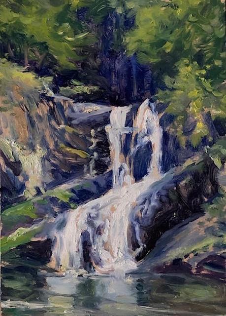 Richard Rosenblatt, 'Indian Brook Falls', 2020, Painting, Oil, The Galleries at Salmagundi