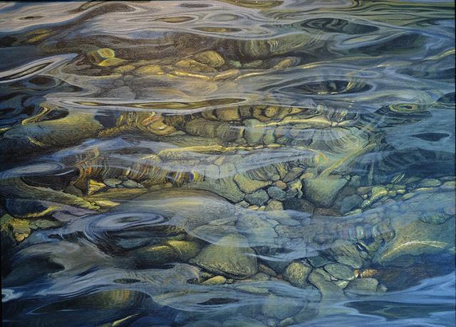 , 'Aqua Silsersee,' 2017, GALERIE URS REICHLIN