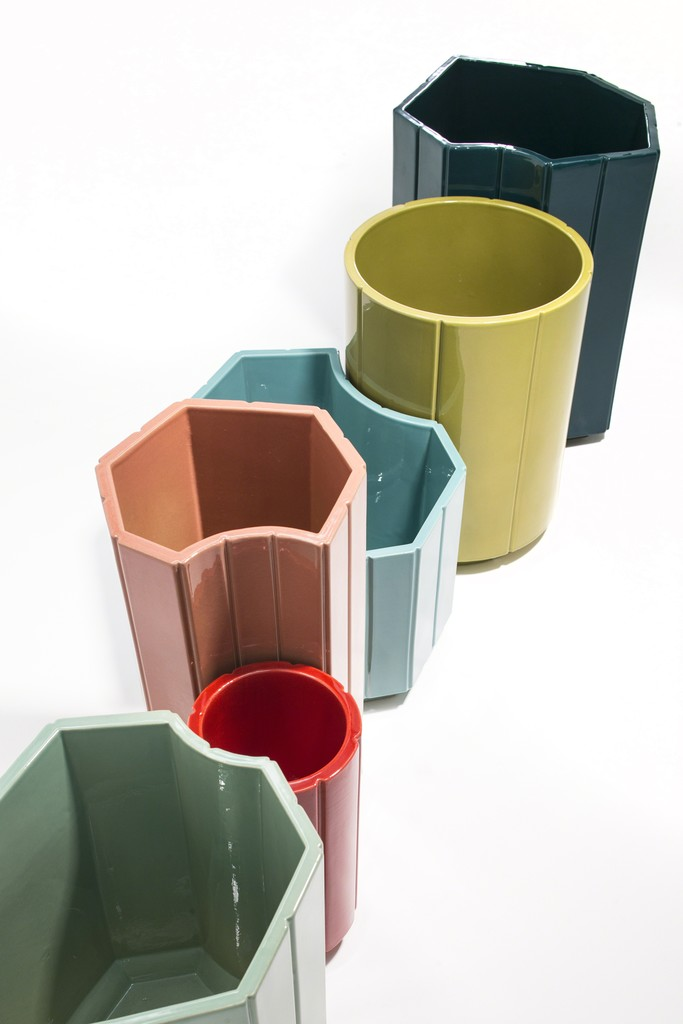 India Mahdavi, 'VASES series 3 (S3) MONOCHROME, SET OF 6 in limited edition of 40 - celadon, red, rose, turquoise, chartreuse, canard blue.,' 2013, Carwan Gallery