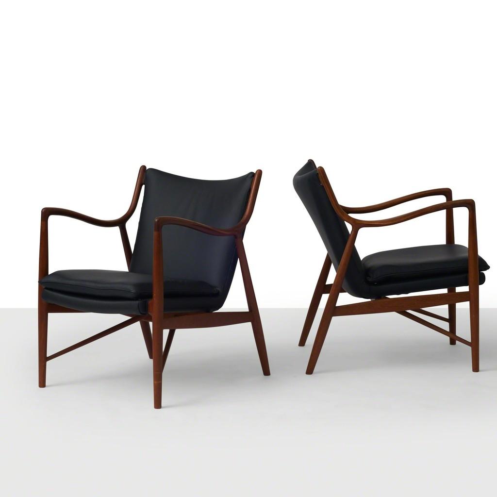 Finn Juhl, U0027Finn Juhl NV45 Lounge Chairu0027, 1940 1949, Almond