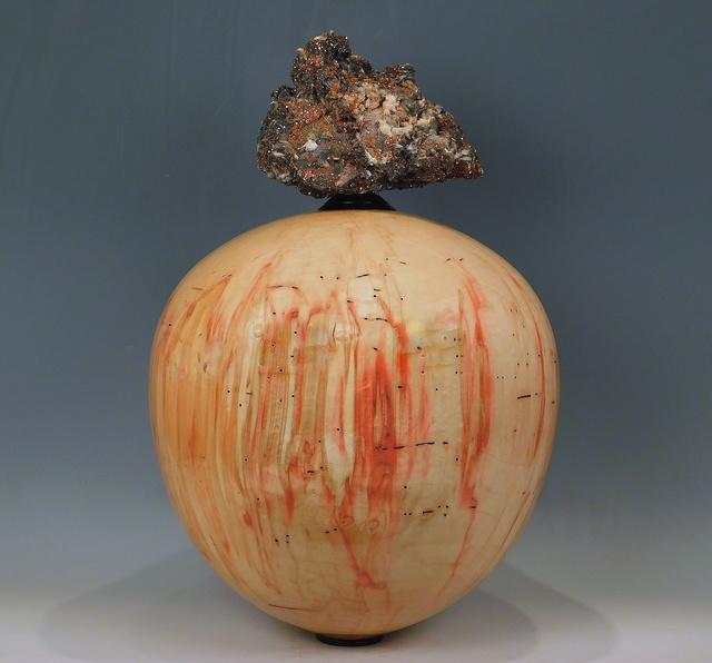 Steven Potts, 'Box Elder Vessel', 2021, Sculpture, Box Elder (Acer Negundo) Wood with African Ebony and Vanadinite mineral from Midelt Provence, Draa Tafilalet, Morocco, Steidel Contemporary