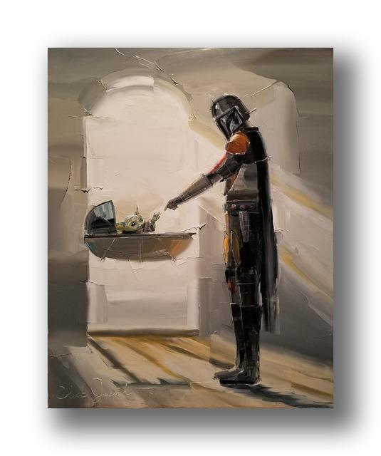 Chuck Joseph, 'The Mandalorian', 2020, Painting, Oil on Canvas, Animazing Gallery