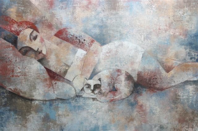 , 'Femme Avec Chat,' 2016, Barnadas Huang
