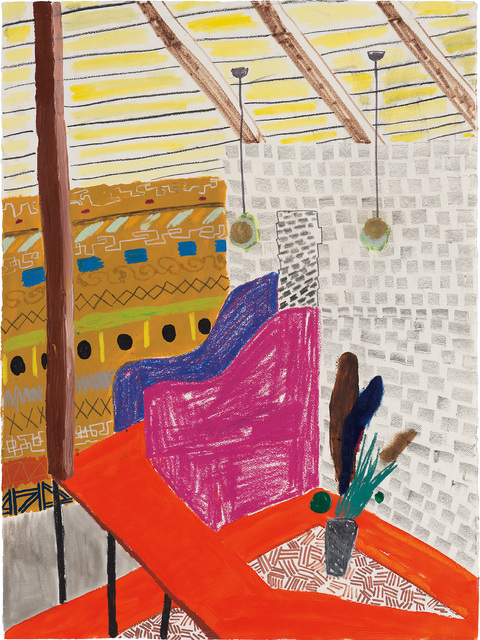 Shara Hughes, 'Ramp', 2008, Drawing, Collage or other Work on Paper, Mixed media on paper, Phillips