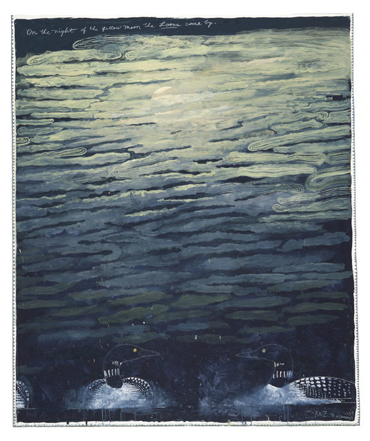 , 'On the Night of the Yellow Moon the Loons Came By,' 2015, Nancy Hoffman Gallery
