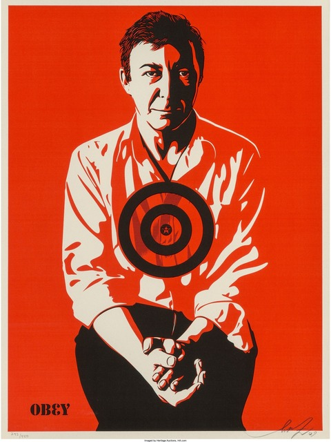 Shepard Fairey (OBEY), 'Jasper Johns Red', 2009, Heritage Auctions