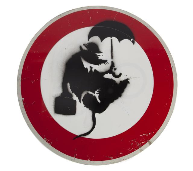 Banksy, 'Umbrella Rat', Julien's Auctions
