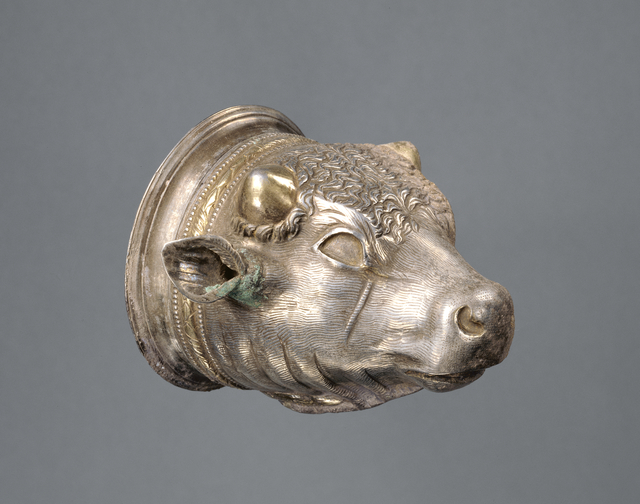 'Bull's Head Cup with separable liner', 100 BCE -CE 100, J. Paul Getty Museum