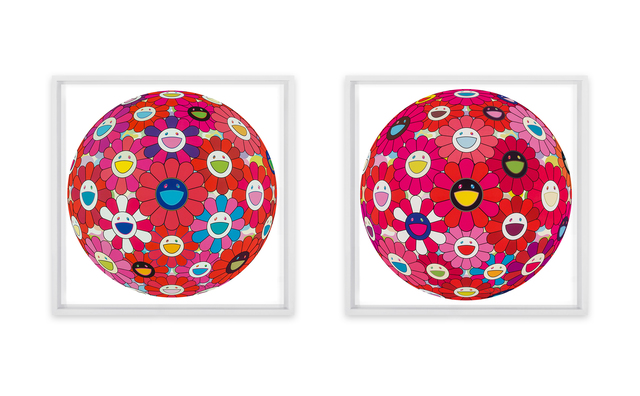 Takashi Murakami, 'Hey! You! Do you feel what I feel? and Flowerball (3D) - Turn Red! (two works)', 2014; 2013, Heritage Auctions