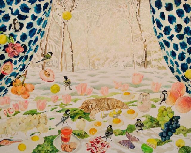 , 'Snow Draws,' 2018, galerie bruno massa