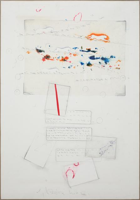 , 'Senza titolo (Cartoline astratte in una giornata dell'amato vento...),' 1989, Dep Art