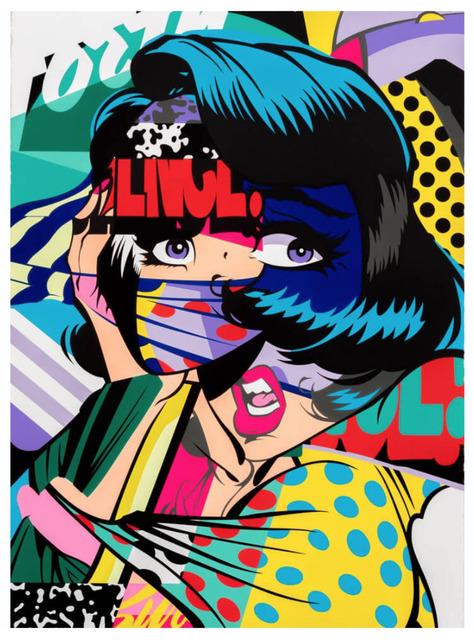 POSE, 'BURN', 2015, Print, 15 Color Hand Pulled Screen Print, Marcel Katz Art