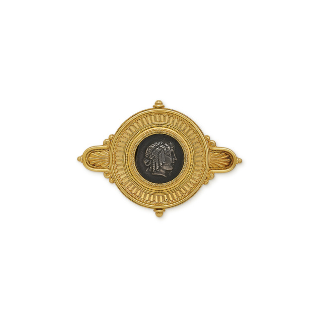 , 'Gold brooch with ancient greek silver coin,' ca. 1875, Wartski