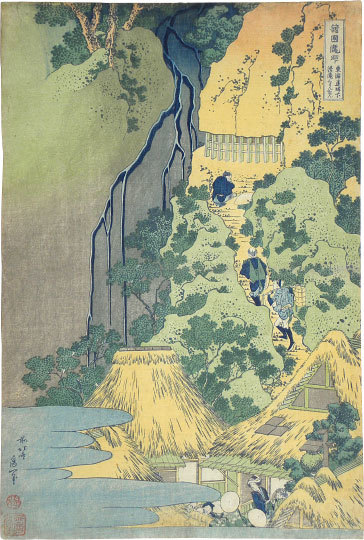 , 'A Journey to the Waterfalls in All the Provinces: Kiyotaki Kannon Waterfall on the Tokaido,' ca. 1832, Scholten Japanese Art