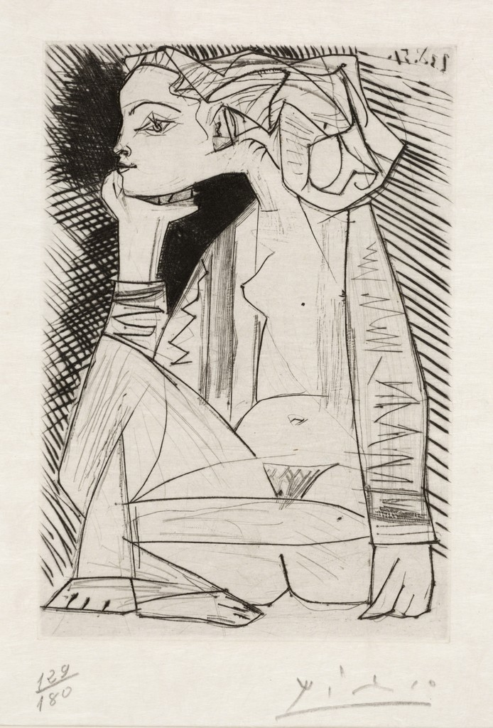 Pablo Picasso, 'The Lovers, Geneviève Looking for Me, II (Les Amoreux, Geneviève cherche moi II),' 1951, Dallas Museum of Art