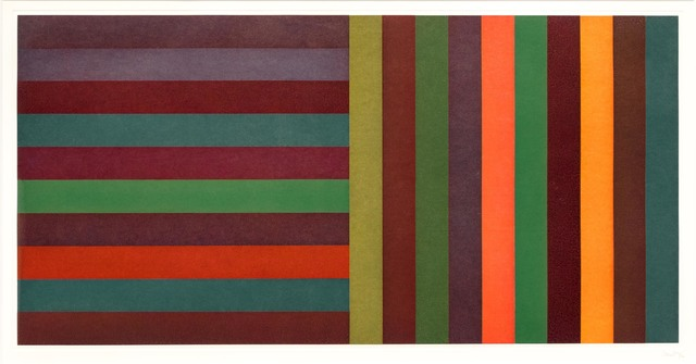 Sol LeWitt, 'Horizontal Color Bands and Vertical Color Bands 6', 1991, Leslie Sacks Gallery