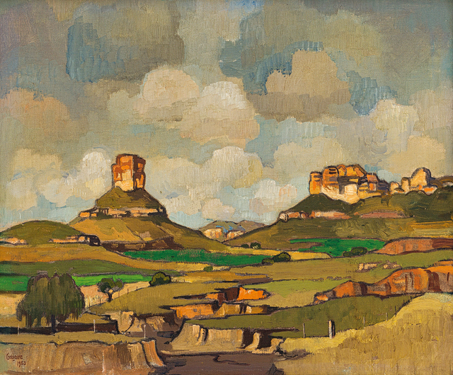 Gregoire Johannes Boonzaier, 'Free State Mountains', 1953, Strauss & Co