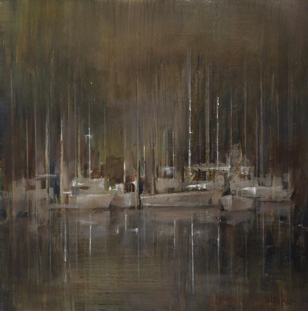 , 'Moorings, Autumn Evening,' 2017, Thackeray Gallery