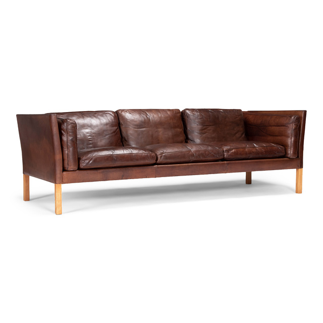 Ivan Schlechter, 'A three-seater sofa', 1960's, Design/Decorative Art, Beech and leather, Dansk Møbelkunst Gallery