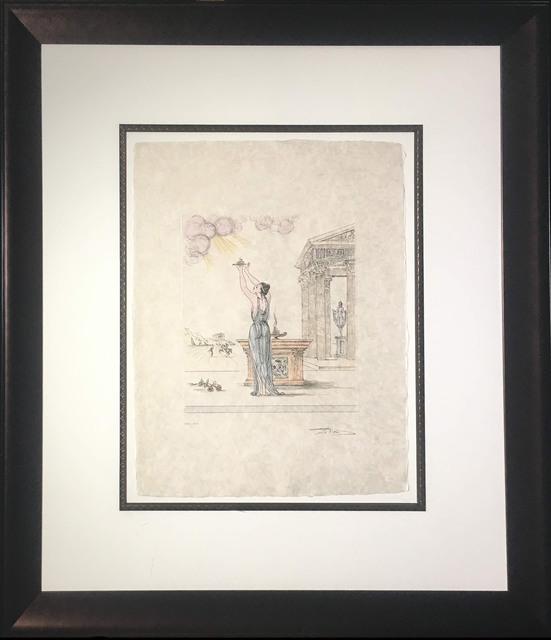 Salvador Dalí, 'Polymnie (Deesse de la Poesie Sacre) (Polymnie (Goddess of Sacrd Poetry))', 1971, Print, Color engraving on woven Japon paper, Baterbys