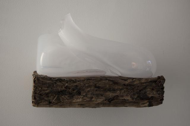 , 'White glass on paper 1,' 2018, Galerie Franzis Engels