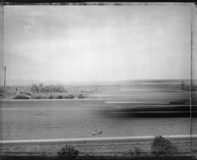 Mark Klett, 'Car Passing Snake ', Photography, Pigment Ink Print, photo-eye Gallery