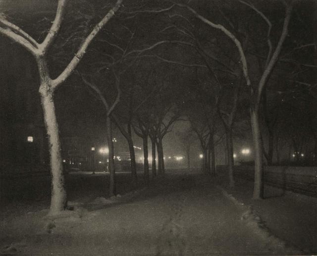Alfred Stieglitz, '[Icy Night, New York]', 1898, Doyle