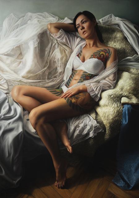 Agnieszka Nienartowicz, 'Girl in White III', 2019, Gallery at Zhou B Art Center