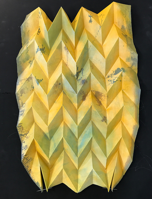 Caleb Nussear, 'Blue/yellow Miura (see add. images for reverse side)', 2015, Massey Klein Gallery