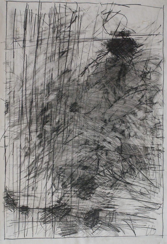 Mario Lobedan, Untitled, Charcoal on Paper, 100 x 70 cm