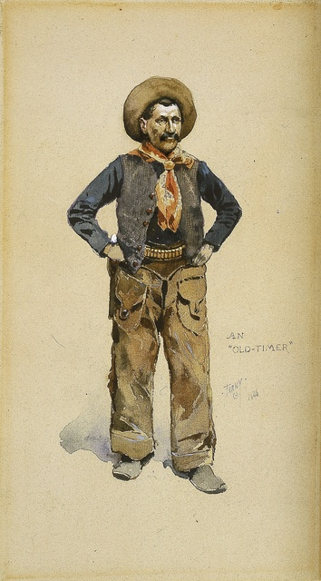 , 'An Old Timer,' 1886, Blanton Museum of Art