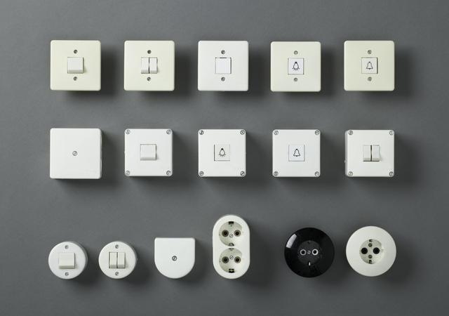 ", 'Switch and socket system  ""System 80"",' 1984, MAKK – Museum für Angewandte Kunst Köln"