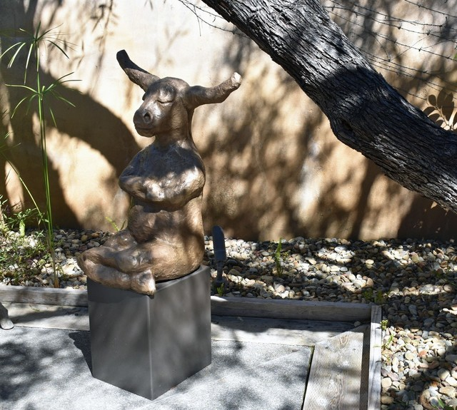 , '[ 2 ] Contemplating Bull with Base (Gold Patina) ,' , ÆRENA Galleries and Gardens
