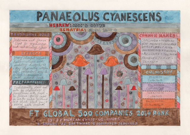 , 'HFT The Gardener/Outsider artworks/Panaeolus cyanescens (Copelandia),' 2015, P.P.O.W