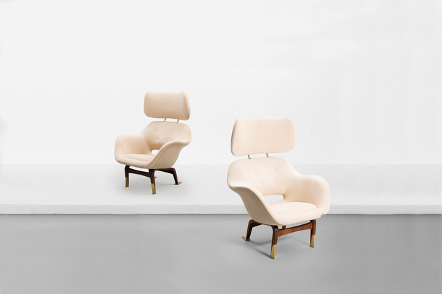 ", 'Pair of armchair with neck rests, model ""Marski"" ,' 1957, Side Gallery"