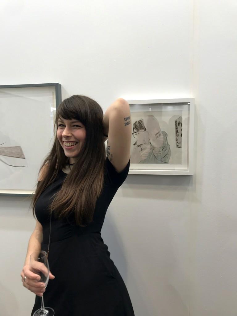 Isabelle Guimond at Galerie Simon Blais booth C05, Papier19.