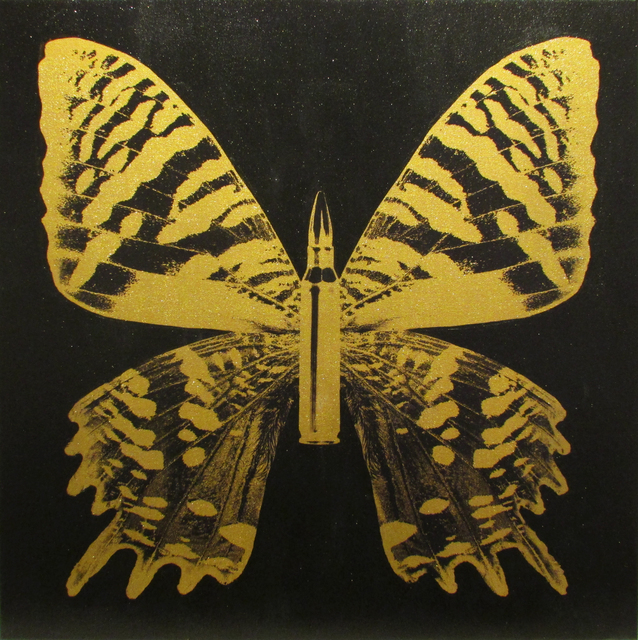 , 'Gold Butterfly III on Black,' 2017, Taglialatella Galleries